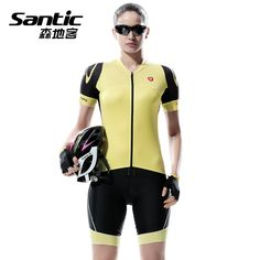 SANTIC Summer Women's Pro Bike Cycling Clothing Ropa Ciclismo MTB Bicycle Clothes Wear Cycling sets Racing Cycling Jersey Sets #Affiliate