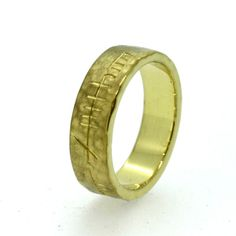 Wedding Ring with Ogham engraving by TheIrishJeweller on Etsy