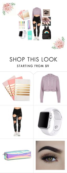 """Back to school"" by annajimin ❤ liked on Polyvore featuring StudioSarah, River Island, Vans, Victoria's Secret, Apple and Zoya"