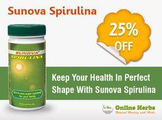 Get Sunova Spirulina at a Cheaper #Price !!Hurry!! #Offer #Deal http://www.onlineherbs.com/sunova-spirulina-capsules.html?utm_source=pinterest&utm_medium=product-Sunova-Spirulina&utm_campaign=nov-smo