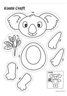 Dibujos de animales Koala Craft Slate tile flooring dos and don'ts Slate tile flooring is available Koala Craft, Koala Kids, Bear Crafts, Animal Crafts, Toddler Crafts, Diy Crafts For Kids, Preschool Crafts, Preschool Activities, Printable Crafts