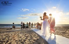 Malibu Sunset - Beach Ceremony at The Sunset Restaurant - Malibu, California - Photography: www.TheMalibuArtist.com