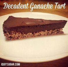 I Quit Sugar: Decadent Coconut Ganache Tart   http://www.iquitsugar.com/recipe/cardamom-sea-salt-ganache-tart/