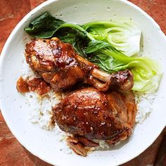 This Filipino-style adobo includes a full cup and a half of the mellower rice-wine variety. Swirled in a marinade of soy sauce, sugar, and… Braised Chicken, Marinated Chicken, Martha Stewart, Couscous How To Cook, Yummy Chicken Recipes, Chicken Legs, Breast Recipe, Chicken Seasoning, Chicken Casserole