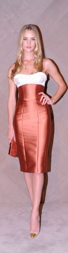 Rosie Huntington Whiteley.  Dress is freaking stunning, then you zoom in on the pointed toe heals. Off the hook!
