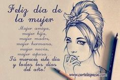 Find images and videos about empoderamiento and dia de la mujer on We Heart It - the app to get lost in what you love. Thought Pictures, Birthday Congratulations, Happy Wishes, Funny Phrases, Spanish Quotes, Inspirational Thoughts, Happy Mothers, In My Feelings, Ladies Day