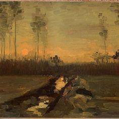 Vincent van Gogh, Landscape at Dusk 1885