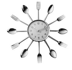 SPECIAL INTRODUCTORY PRICING !!!! Dotted Design On The Cutlery Plus Being Made Stronger Make These Cutlery Clocks So Much Better Than All Other Similiar Looking Clock Brands!!! Batteries (Not Included).