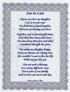 sayings for the son N law from the mother of the bride | American Diabetes Association Home Page.