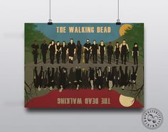 The Walking Dead Minimalist Poster Print by Posteritty