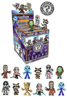 Marvel& Guardians of the Galaxy Mystery Minis Case of 12 by Funko Vinyl Figures, Action Figures, Funko Figures, Pop Figures, Mega Pokemon, Funko Mystery Minis, Mini Blinds, Disney Toys, Funko Pop Vinyl