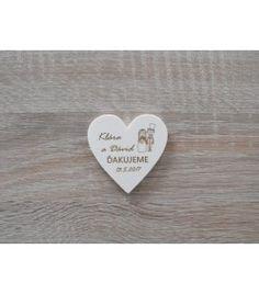 Svadobná magnetka srdce na mieru. Topoľová preglejka 4mm s vygenerovaným popisom Heart Ring, Jewelry, Jewellery Making, Jewelery, Heart Rings, Jewlery, Jewels, Jewerly, Fine Jewelry