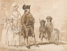 James Gandon and Family (Architect), by Paul Sandby Brown wash and brown ink over graphite on medium, cream, slightly textured wove paper. Yale Center for British Art Satirical Cartoons, Tam O' Shanter, William Hogarth, Google Art Project, Observational Drawing, Vintage Artwork, Drawing Practice, Child Doll, British History