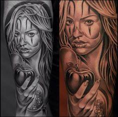 wolf tattoo girl - Google Search