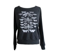 Insect Raglan Sweater  Winged Insects Moth by friendlyoak on Etsy, $25.00