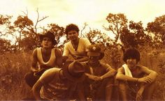 Foto do Alexandre Militão de um acampamento que fizemos em 1981.