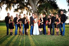 Groom in jeans idea and woman in boots - oh yes! Totally my wedding ONE DAY!