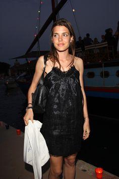 Charlotte Casiraghi and Stella McCartney RTW Fall 2009 Black Dress