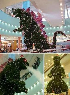 Gozilla Christmas Tree