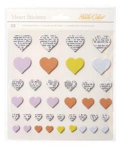 Lemon Lush Chipboard Heart Stickers