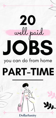 Searching for an online job that can be done part-time? Here's the list of the best part-time jobs online and they pay well! Beside online jobs in thi spost you'll find out what are the best work from home jobs, how much you can earn working part-time and what are the best ways to make money online! Best Part Time Jobs, Legit Online Jobs, Jobs For Teens, Find A Job, Work From Home Jobs, Earn Money Online, College Students, Way To Make Money, You Can Do
