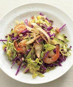 Shrimp And Avocado Salad With Crispy Tortillas