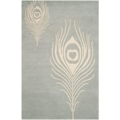 Soho Grey/Ivory 3 ft. 6 in. x 5 ft. 6 in. Area Rug