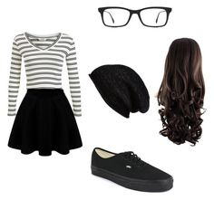 """""""Untitled #20"""" by meckensylou on Polyvore featuring Miss Selfridge, Vans, Ray-Ban and Halogen"""