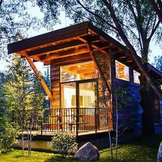 The colorful Perquod tiny house from Rocky Mountain Tiny Homes. A 208 sq ft tiny house on wheels that comfortably fits a family of four. Tiny House Movement, Shipping Container Home Builders, Shipping Containers, Architecture Classique, Park Model Homes, Park Homes, Building A Container Home, Container Homes, Container Cabin