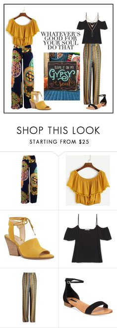 """Gypsy Soul"" by ena07-dlxx ❤ liked on Polyvore featuring Nine West, Boohoo, INC International Concepts and WithChic"