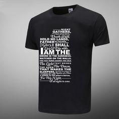 Night's Watch Oath Black Tshirts For Mens