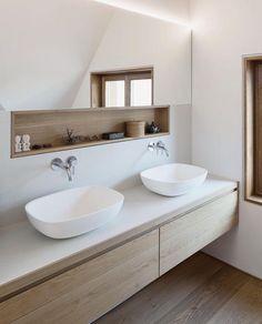 Scandinavian Bathroom Design and Decor Ideas - Bathroom - Bathroom Decor Scandinavian Bathroom Design Ideas, Scandinavian Baths, Modern Bathroom Design, Bathroom Interior Design, Bathroom Designs, Design Bedroom, Scandinavian Style, Modern Interior, Modern Bathrooms