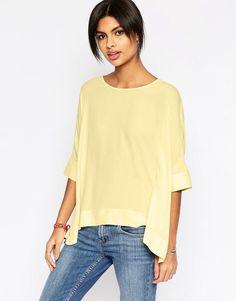 ASOS | ASOS Oversize Kimono T-Shirt With V Back at ASOS
