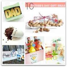 Cute Father's Day ideas.  I like the letter in the frame