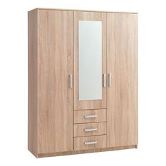 I really like the pale wood of this wardrobe. My husband and I are redecorating our bedroom, so we are looking for the best furniture to get. We will definitely have to find a wardrobe this same color since it will match our bed perfectly.