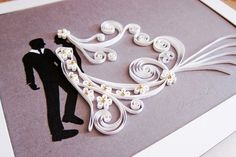 Quilling Frame for Bride and Groom