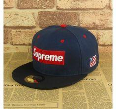eeecb60bc9c Supreme Hat - Classical Logo With Flag Snapback baseball adjustable cap hat  Supreme Hat