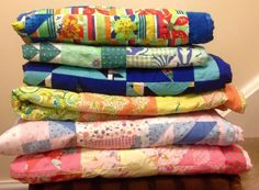 Stack of quilts from Project Linus UK Quilts, Blanket, Projects, Inspiration, Log Projects, Biblical Inspiration, Blue Prints, Quilt Sets, Blankets