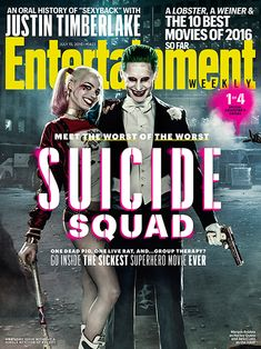 'Suicide Squad': See EW's Exclusive New Photos and Covers | Margot Robbie as Harley Quinn and Jared Leto as The Joker on the Cover of <em>Entertainment Weekly</em> | EW.com