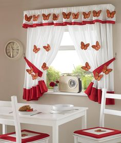 Kitchen window can face light, heat, or direct rain. Besides that, we need style our kitchen window. Of course, kitchen curtain ideas is the best. Decor, Kitchen Curtains, Kitchen Dining Room Combo, Dining Room Combo, Home Decor, Curtains, Curtain Decor, Curtain Designs, Kitchen Curtain Designs