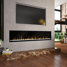 dimplex ignitexl 74 in elektrokamin built in electric fireplace 7 - The world's most private search engine Wall Mounted Fireplace, Tv Above Fireplace, Linear Fireplace, Home Fireplace, Fireplace Inserts, Living Room With Fireplace, Fireplace Design, Farmhouse Fireplace, Fireplace Ideas