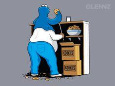 cookie monster  more here: http://artistsinspireartists.com/everything/artists-series-42-glenn-jones