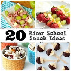The Crafted Sparrow: 20 After School Snack Ideas