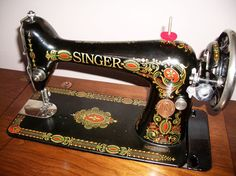 Singer 66 Red Eye Antique Treadle Sewing by blackswansewing