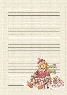 Christmas Images Free, Christmas Graphics, Cute Stationery, Stationery Paper, Lined Writing Paper, Writing Papers, Pen Pal Letters, Christmas Stationery, Doodles