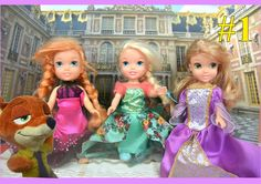Anna and Elsa Fairytale! Elsa and Anna Toddlers in the Story of the 3 Li...