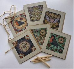 Pack of 6 unique Christmas cards