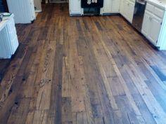 Reclaimed Oak - Wide Plank Flooring http://www.realantiquewood.com