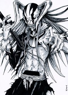 hollowfication ichigo - Bleach #manga