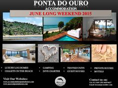Accommodation in Ponta Do Ouro Long Weekend, Log Homes, Motel, Safari, Camping, Luxury, Beach, Holiday, House